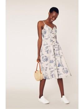 Oasis Blue Printed Midi Dress by Next