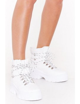 Our Stomping Ground Lace Up Hiker Boots by Nasty Gal