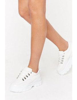 I'm Croc Alone Faux Leather Trainers by Nasty Gal