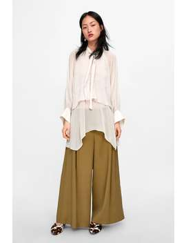 Long Blouse With Tie Neck  Topswoman by Zara