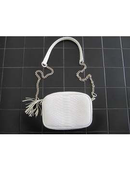 White Python Leather Crossbody Bag, White Bridal Leather Purse, Leather Shoulder Bag by Etsy