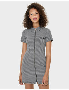 Checked Dress With Zip by Bershka