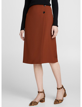 Piqué Wrap Skirt by Contemporaine