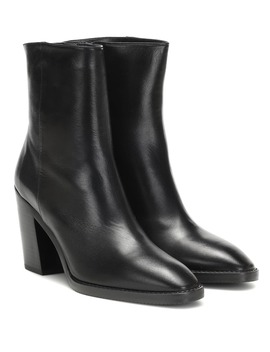 Wynter Leather Ankle Boots by Stuart Weitzman