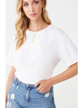 Oversized Distressed Tee by Forever 21
