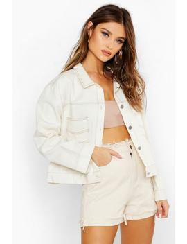 Contrast Stitch Utility Jacket by Boohoo