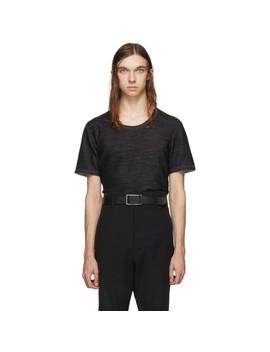 Reversible Grey Short Sleeve T Shirt by Deepti