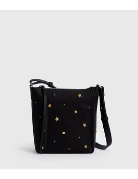 Mazzy Zip Leather Crossbody Bag by Allsaints
