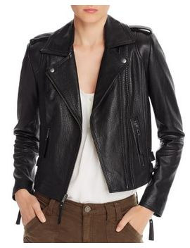 Leolani Leather Moto Jacket by Joie