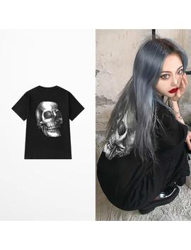 Summer Harajuku Devil Skeleton Print T Shirt Men Hip Hop High Street Skull T Shirts Male Skateboard Streetwear Dark Tops Tee by Ali Express.Com