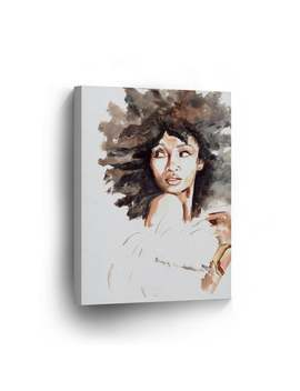 African American Girl Wall Art Canvas Print Woman Watercolor Painting Decorative Art Home Decor Artwork Stretched And Framed   Ready To Hang by Etsy