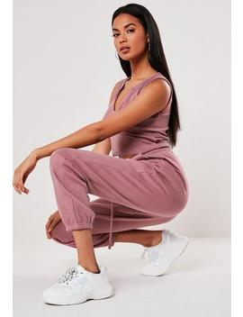 Purple Oversized 90s Joggers by Missguided