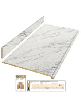 6 Ft. Laminate Countertop Kit In Calcutta Marble With Valencia Edge by Hampton Bay