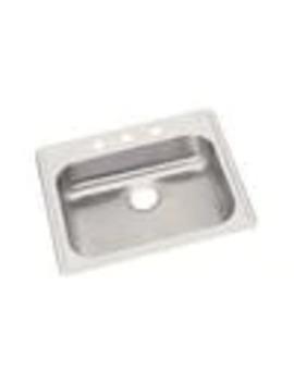 Elkay Dayton 25 In X 22 In Satin Single Basin Drop In 1 Hole Residential Kitchen Sink by Lowe's