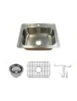 Transolid Classic 25 In X 21 In Brushed Stainless Steel Single Basin Drop In 1 Hole Residential Kitchen Sink by Lowe's