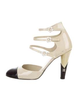 Patent Leather Cap Toe Pumps by Chanel