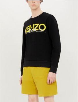 London Skyline Print Cotton Jersey Sweatshirt by Kenzo