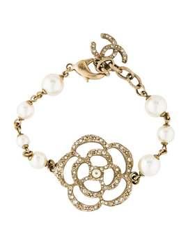 Faux Pearl Camellia Bracelet by Chanel