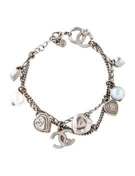 Strass & Faux Pearl Charm Bracelet by Chanel