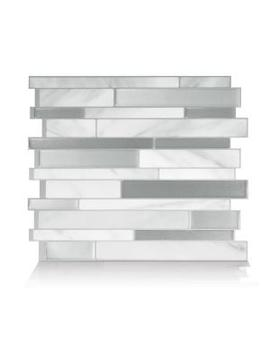 Milano Carrera Multi 11.55 In. W X 9.64 In. H Peel And Stick Decorative Mosaic Wall Tile Backsplash (4 Pack) by Smart Tiles