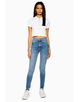 Tall Mid Blue Jamie Jeans by Topshop