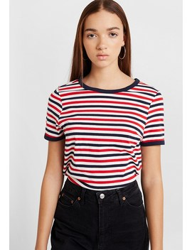 Stripe Ringer Tee   T Shirt Print by New Look