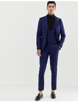 Gianni Feraud   Pantalon De Costume Coupe Slim Parfaite En Laine Mélangée   Bleu Marine by Pantalon De Costume