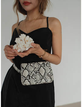 Textured Faux Leather Belt Bag by Stylenanda