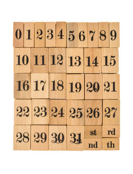 Dates & Number Rubber Stamp Set by Hobby Lobby