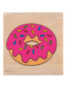 Donut Rubber Stamp by Hobby Lobby