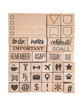 Planner Rubber Stamps by Hobby Lobby
