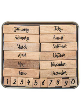 Script Months Of The Year Rubber Stamps by Hobby Lobby