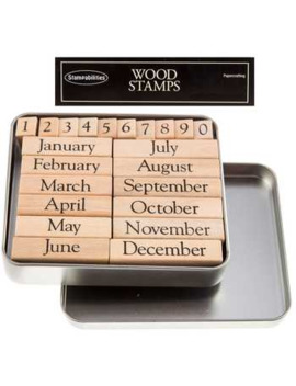 Months Of The Year Rubber Stamps by Hobby Lobby