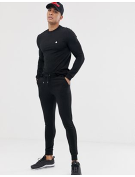 Asos Design Muscle Tracksuit In Black With Triangle by Asos Design