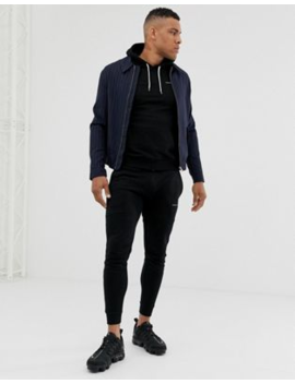 Good For Nothing Skinny Tracksuit In Black With Logo by Asos