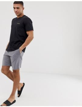 Calvin Klein Monogram Shorts In Dark Grey by Calvin Klein