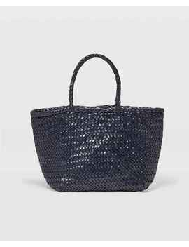 Woven Leather Bag by Club Monaco