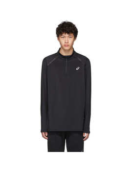 Black Thermopolis Quarter Zip Pullover by Asics