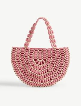 Bruna Beaded Wooden Bag by Rixo
