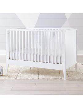 Ever Simple White Crib by Crate&Barrel