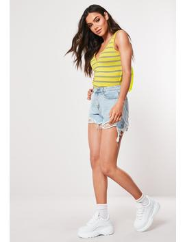yellow-stripe-button-front-tank-top by missguided
