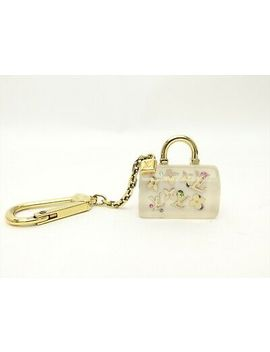 Louis Vuitton Auth Plastic Clear White Porte Cles Speedy Key Chain Bag Charm Lv by Louis Vuitton