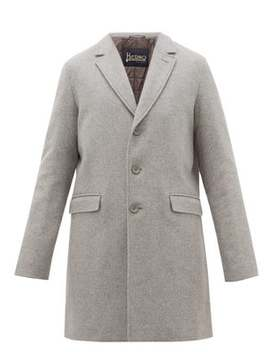 Single Breasted Wool Blend Coat by Herno