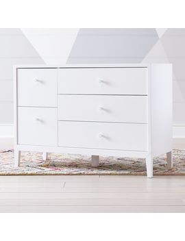 Kids Ever Simple White Wide Dresser by Crate&Barrel