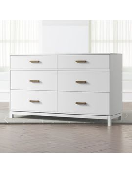 Kids Parke White 6 Drawer Dresser by Crate&Barrel
