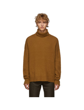Brown Cashmere & Wool Oversized Nyran Turtleneck by Acne Studios