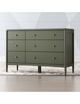 Kids Hampshire White 6 Drawer Dresser by Crate&Barrel
