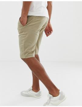 Boss Schino Slim Fit Shorts In Beige by Boss