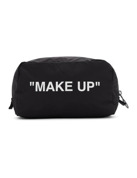 """Black & White """"Make Up"""" Pouch by Off White"""