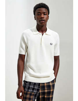 Fred Perry Contrast Texture Knit Polo Shirt by Fred Perry